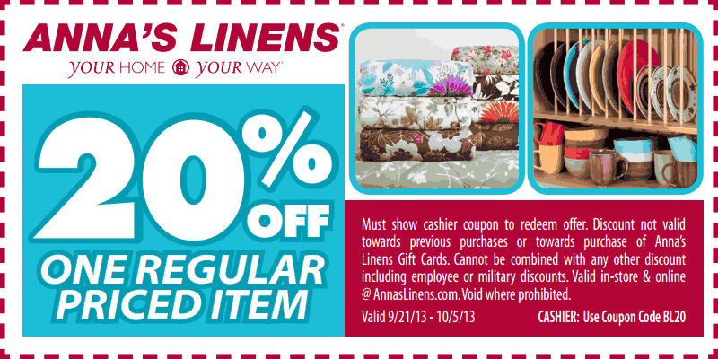 More About Anna's Linens Coupons