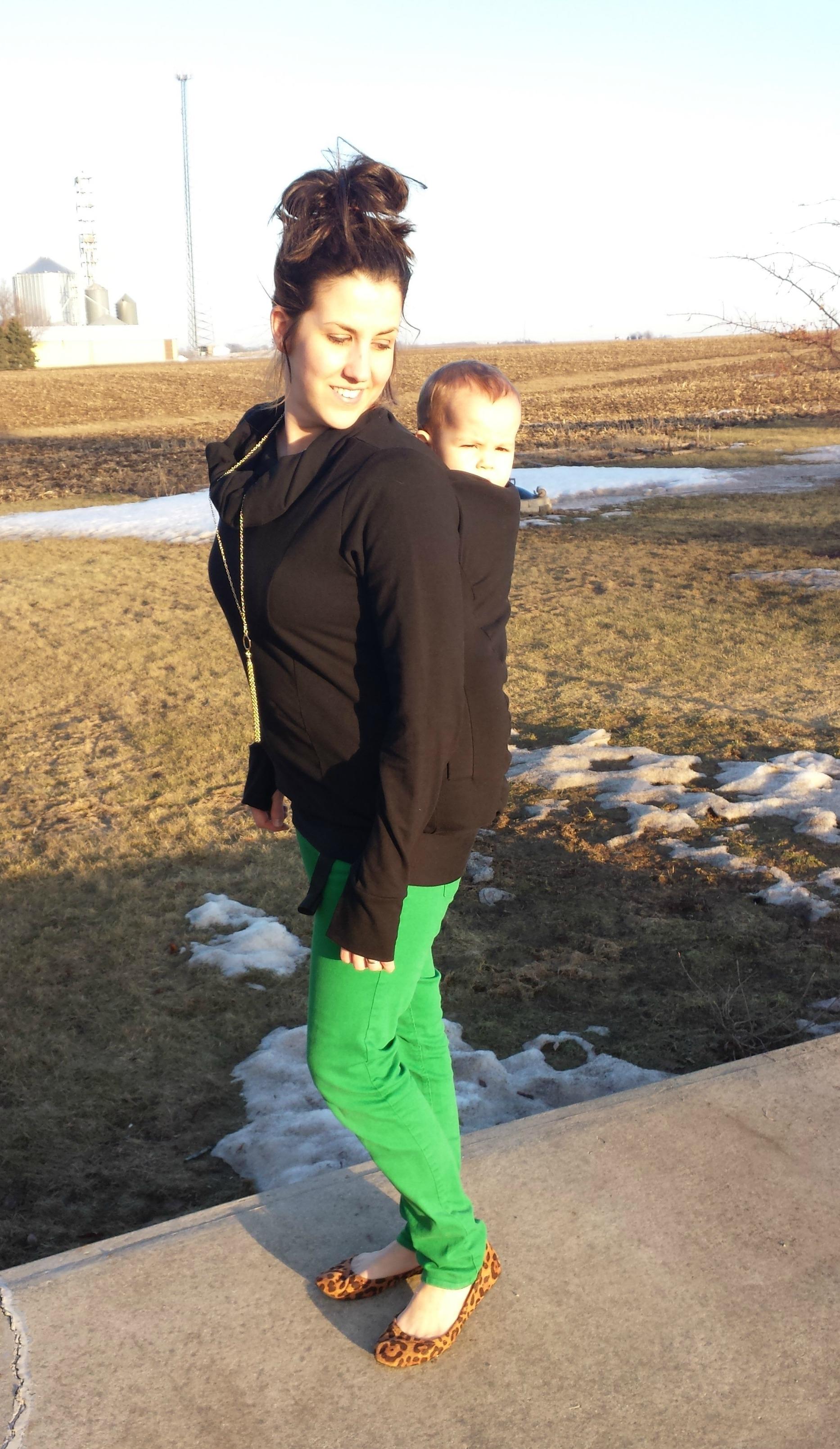The Boba Hoodie Babywearing Momma In Flip Flops