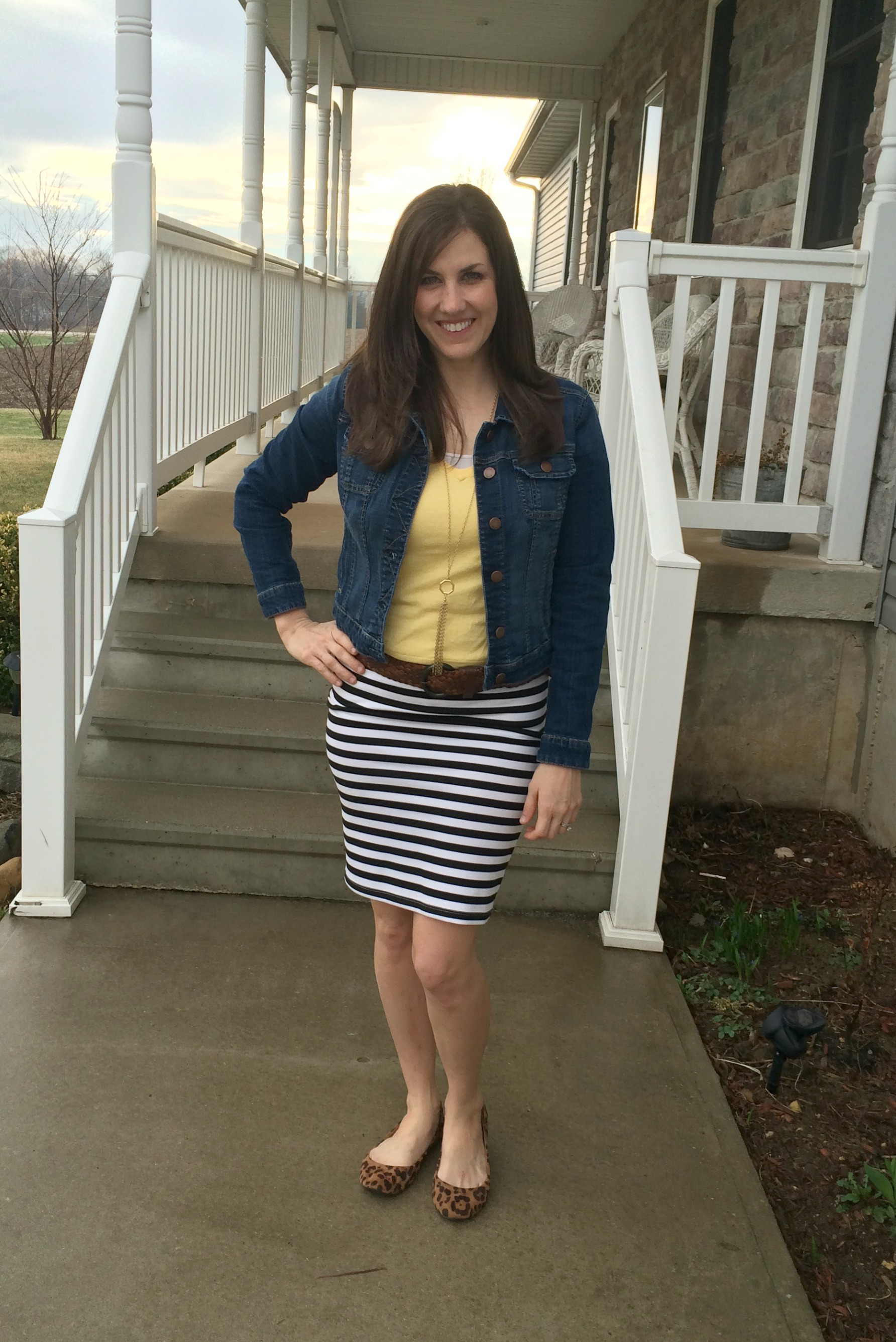Real Mom Style: My Go-To Striped Pencil Skirt #WhatIWore ...