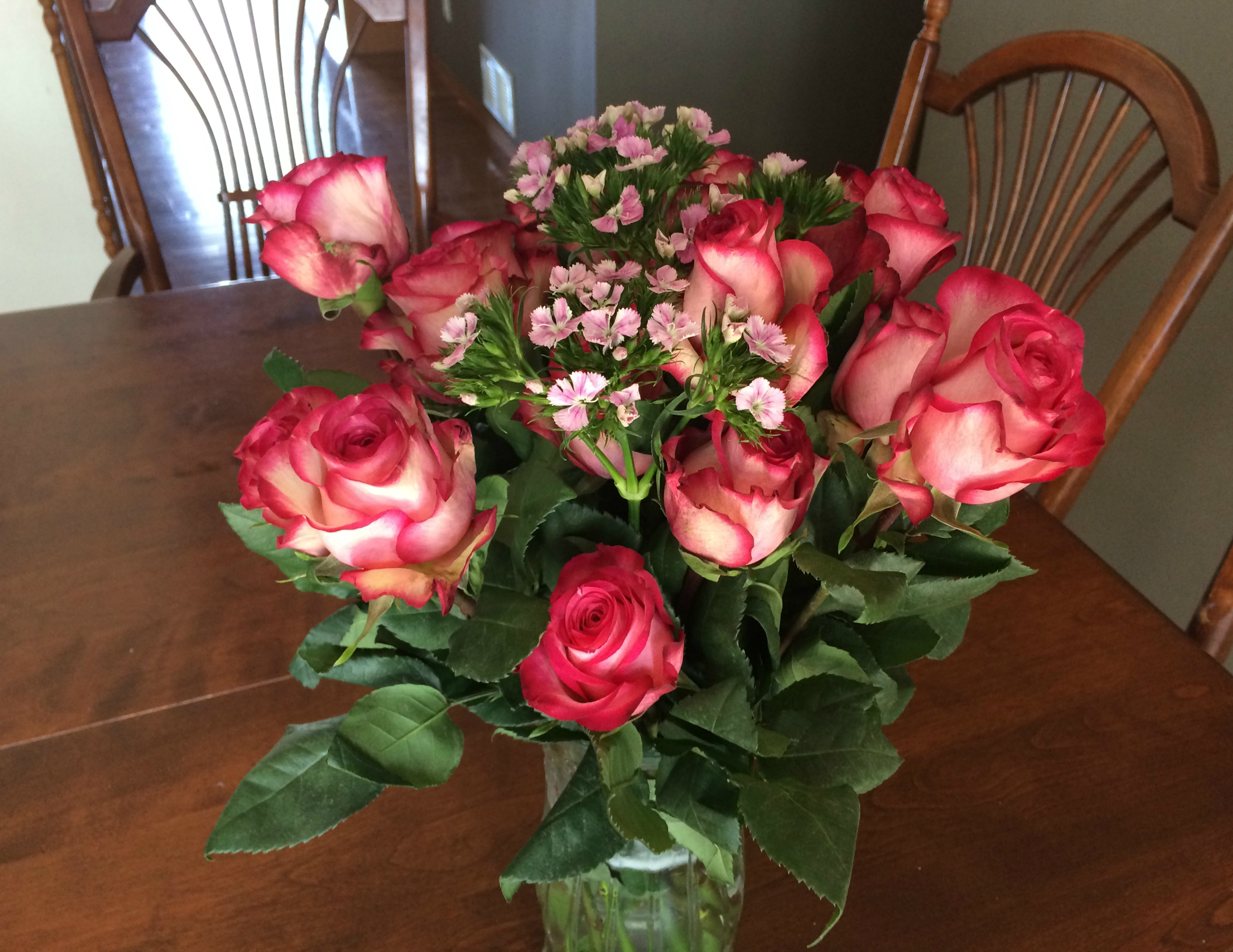 Ordering flowers online with the bouqs company momma in flip flops i received the gorgeous desperado flowers which is a beautiful combination of pink roses purple dianthus they state on the site that the dianthus may be izmirmasajfo