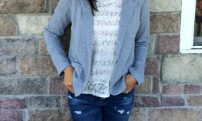Distressed Lace Blazer
