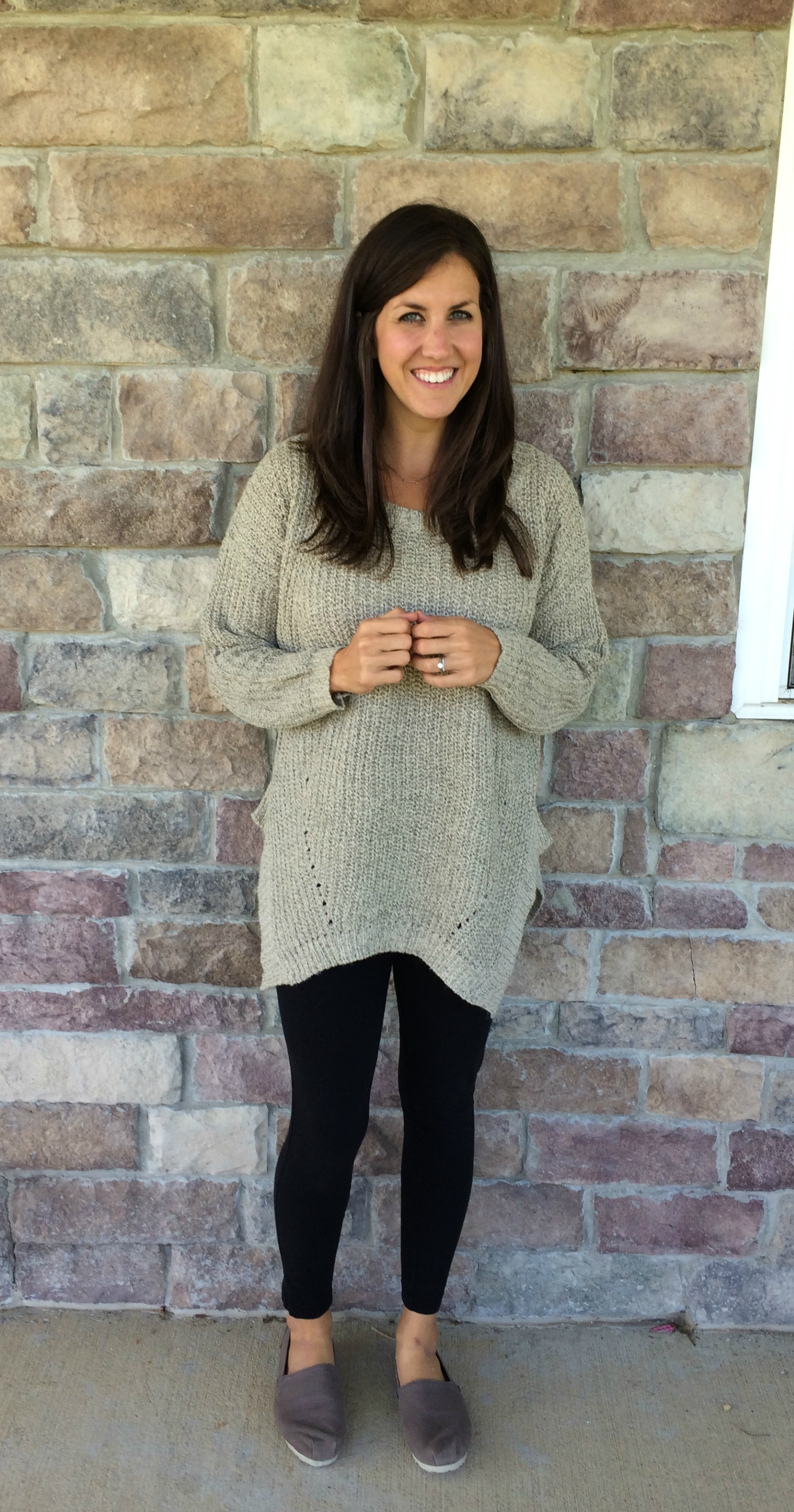 What I Wore, Real Mom Style: Oversized Sweater Outfit ...
