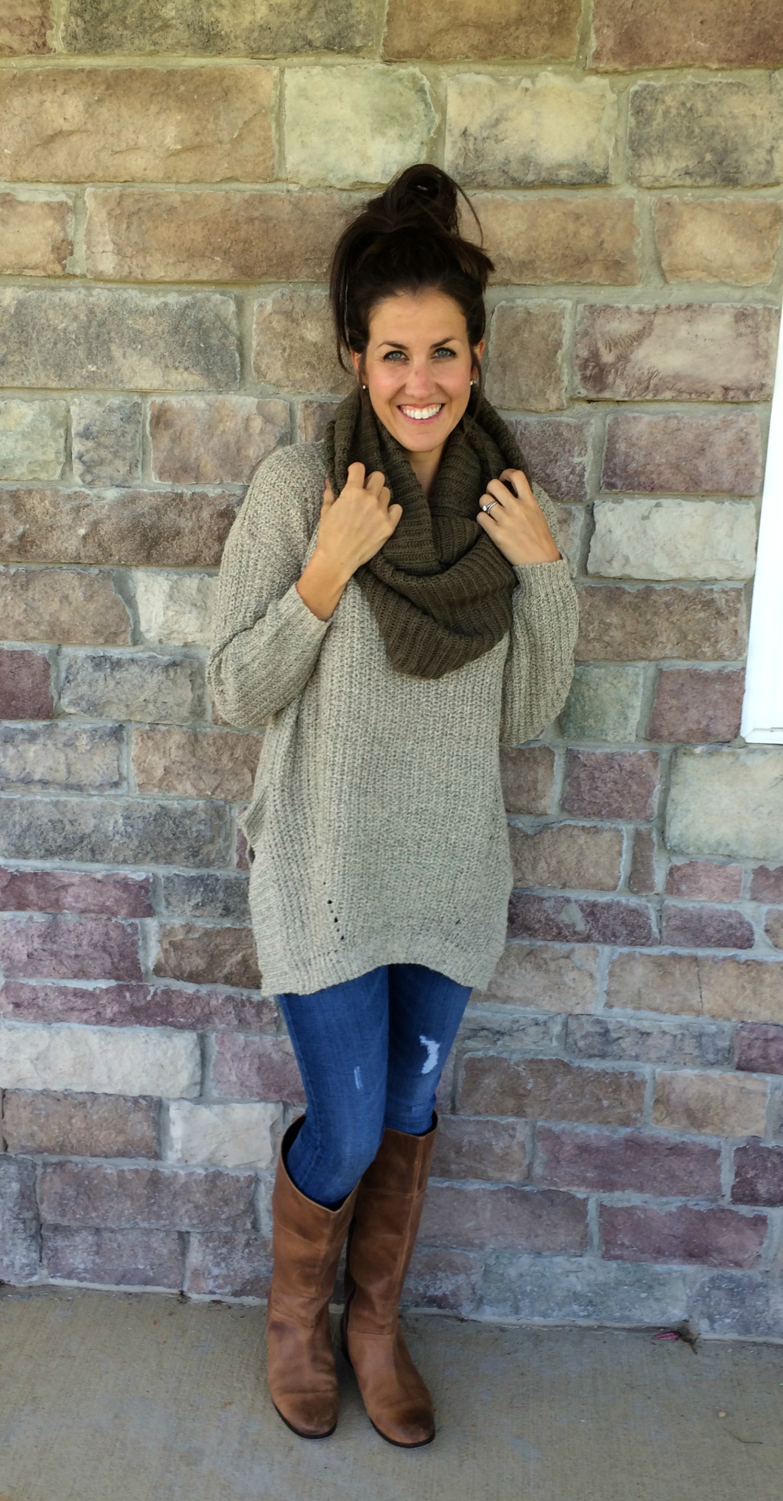 What I Wore, Real Mom Style: Oversized Sweater Outfit # ...