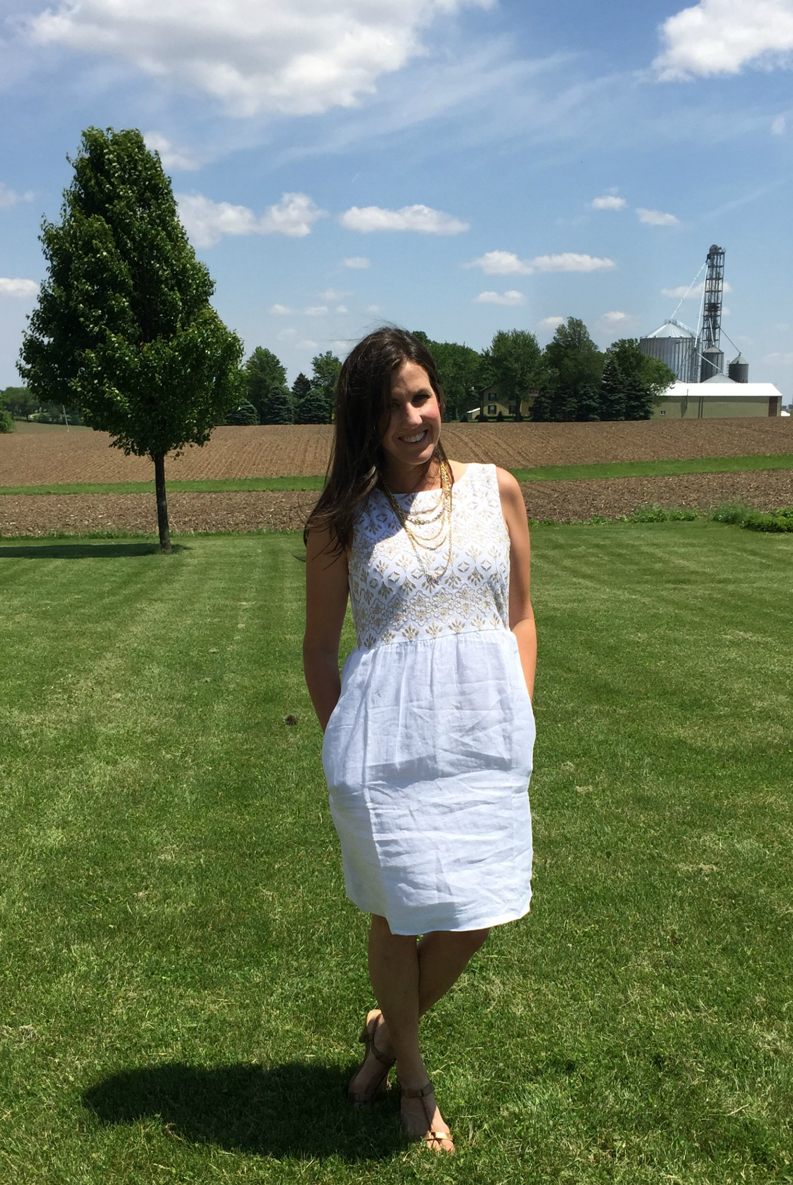 The Perfect White Dress For Summer Momma In Flip Flops