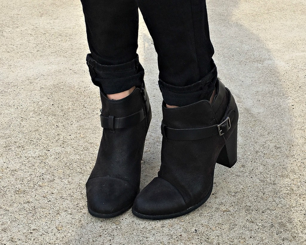 Black Cardigan Outfit Booties