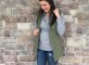 cabi vest and grey top