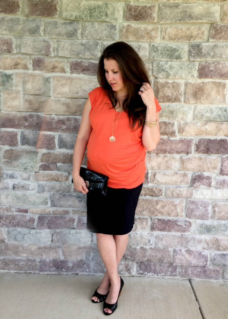 cabi top and skirt