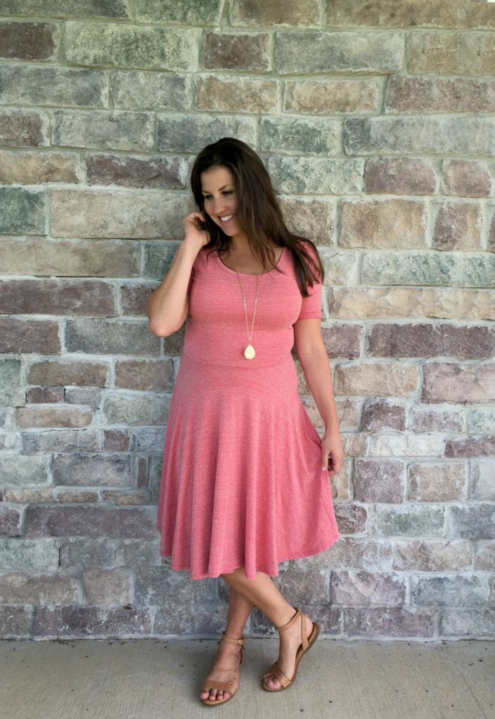 562386c23 This is the Nicole Dress in a gorgeous pink like color. This dress is  lovely because it's stretchy and would work for many women.