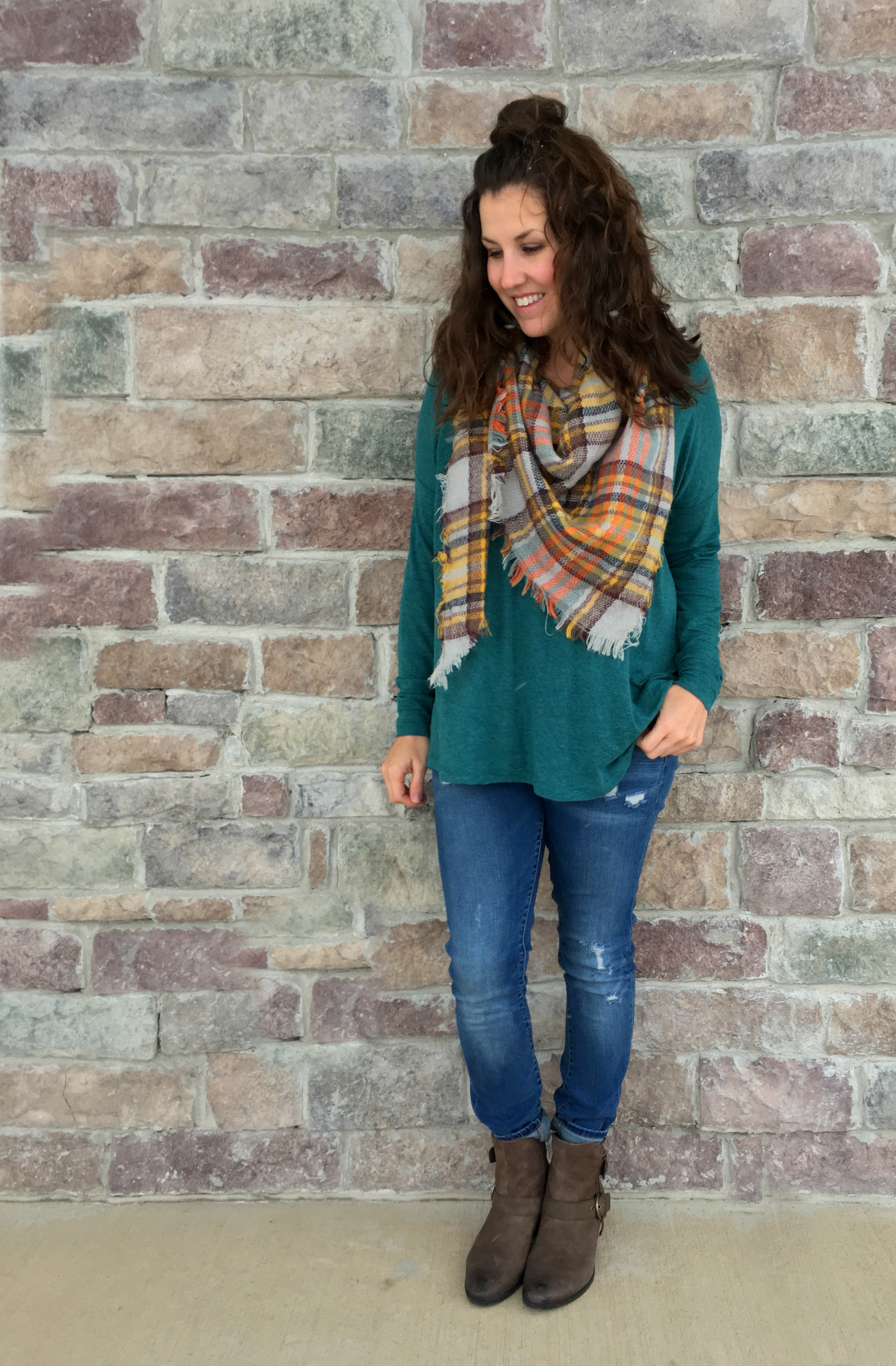 Earth Brand Brown Ankle Boots - Five Outfit Ideas + Giveaway - momma in flip flops