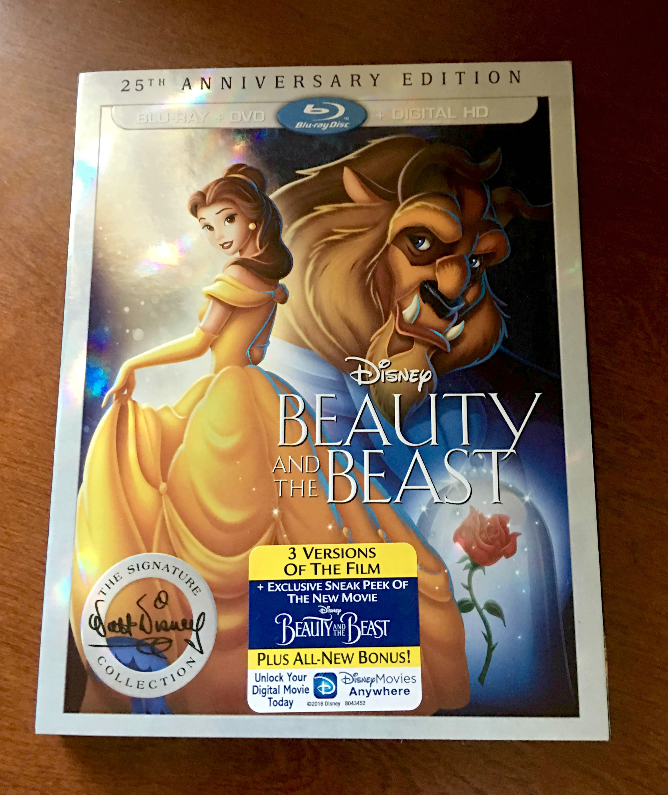 Disney S Beauty And The Beast 25th Anniversary Edition On Blu Ray Dvd Momma In Flip Flops